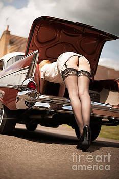 1957 Chevy Bel Air and legs by John Tisbury