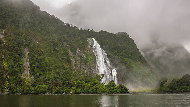 Fiordland Waterfall by Racheal Christian