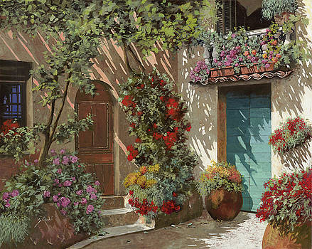Fiori In Cortile by Guido Borelli
