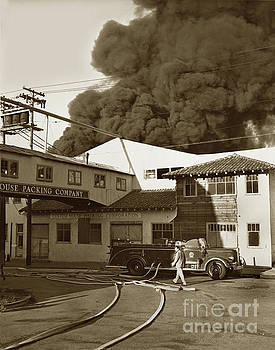 California Views Mr Pat Hathaway Archives - Fire at Cannery Row, Custom House Packing Company Sea Beach Cannery 1953