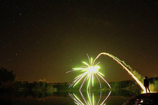 Fire Blooms on Lake Hiawatha by Chaznik Raab