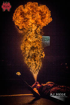 Fire Breathing at Twisted Tuesday by AJ Hege