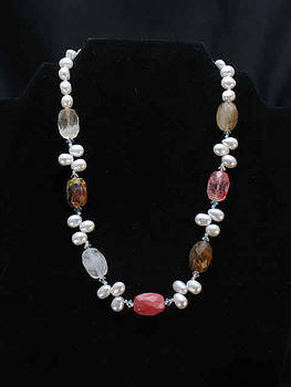 Fire cherry quartz Necklace by Sarupa  Shrestha