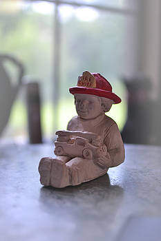 Fire Chief molded stone by Brad Thornton