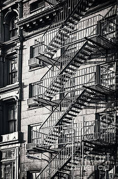 Delphimages Photo Creations - Fire escape black and hwi