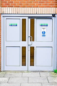 Fire exit doors by Tom Gowanlock
