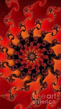 Fire Fractal  by Vicki Lynn Sodora