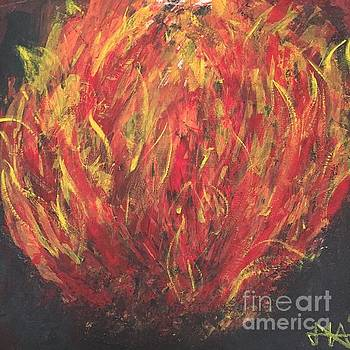 Fire II. by Agota Horvath