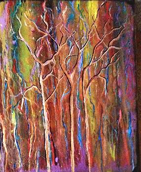 Fire in the forest by Kathy Othon