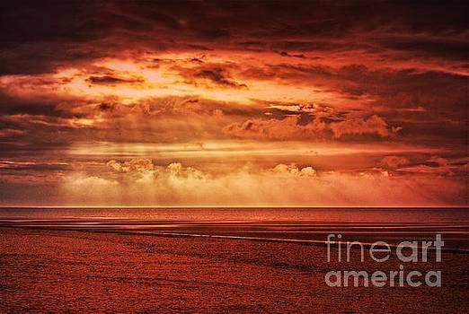 Fire in the sky, Norfolk by John Edwards