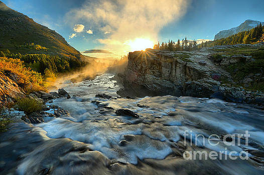 Adam Jewell - Fire Over Swiftcurrent Falls