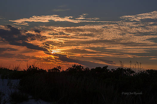 Fire Sky Sunset by Jose Oquendo