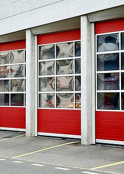 Fire Station Abstract by Colleen Williams