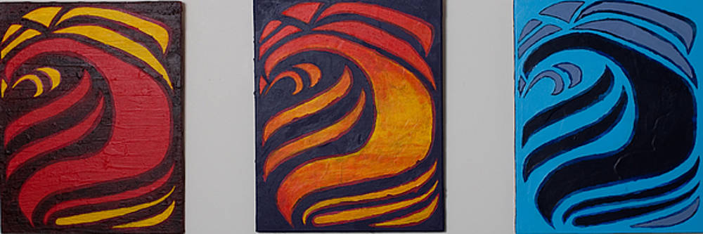 Fire Sunset and Ice by Joseph Bradley