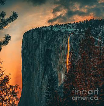 Firefall in Yosemite by Art K