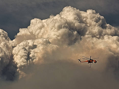 Firefighter In The Clouds by Ron Dubin