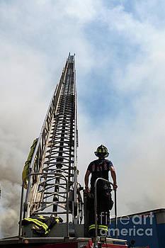 Firefighter w arial by Lloyd Alexander