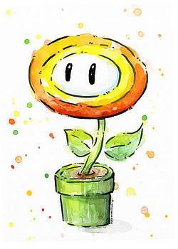 Olga Shvartsur - Fireflower Watercolor