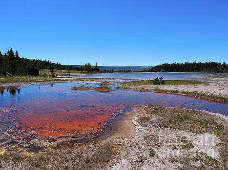 Firehole Lake in Yellowstone National Park by Louise Heusinkveld