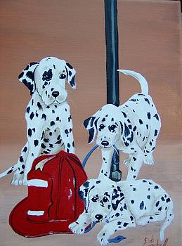 Firehouse Dalmations by Debra Campbell