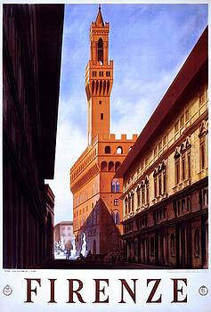 Firenze Italy, travel poster for ENIT, 1938 by Vintage Printery