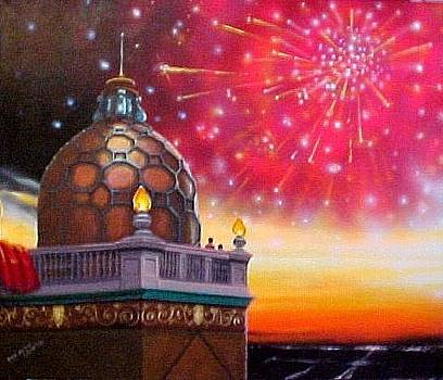 Fireworks at Sunset by Bobbi Baltzer-Jacobo