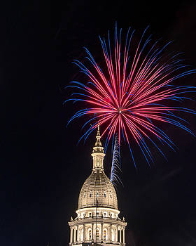 Fireworks at the Dome by Gej Jones
