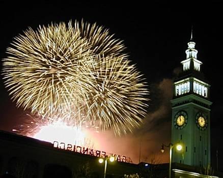 Fireworks - Ferry Building by Richard Nodine