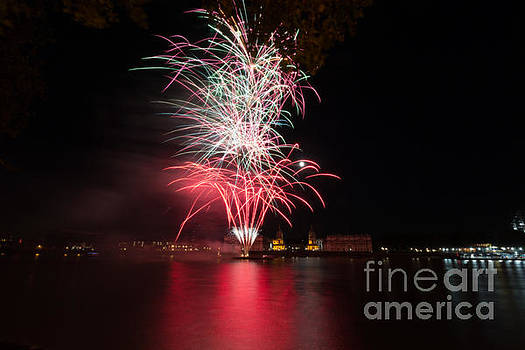 Fireworks in Greenwich  by Andrew Lalchan