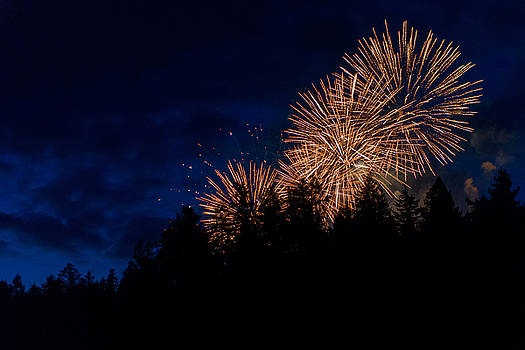 Fireworks in Tod Inlet by Colin Sands