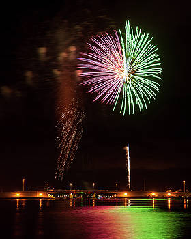 Fireworks over Grand Lagoon by Daryl Clark