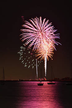 Fireworks Over Keyport Harbor by Quin Bond