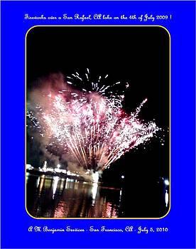 fireworks over San Rafael lake by Anthony Benjamin
