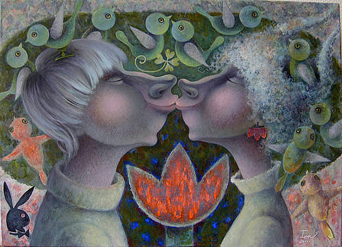 First kiss by Una Lune