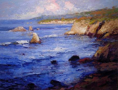 First light at Shell Beach by R W Goetting