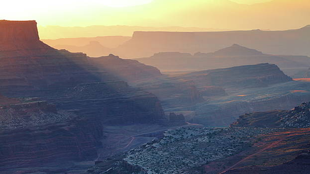 First Light in the Canyon by Roupen  Baker