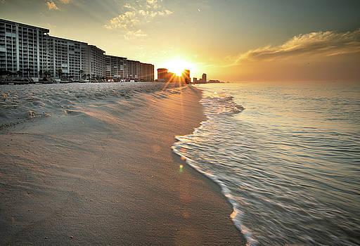 First Light On Orange Beach by Greg Mimbs