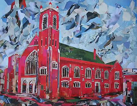 First Metropolitan United Church Victoria BC corner of Quadra and Balmoral  by Viet Tran