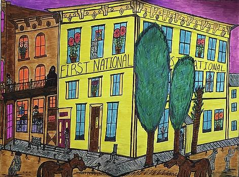 First National Hotel. Historic Menominee Art. by Jonathon Hansen
