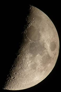 First quarter Moon by George Leask