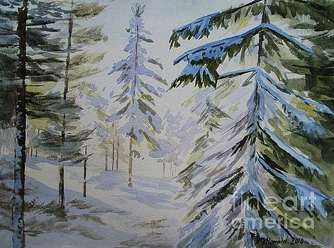 First Snow and Sunshine by Martin Howard