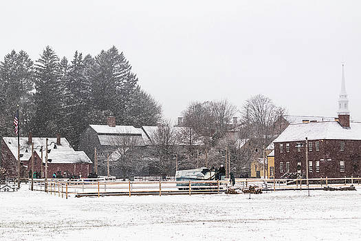 FIRST SNOW at Strawbery Banke Museum  by Devin LaBrie