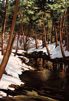 First Snow Fall by Hans Neuhart