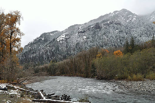 First Snow On The Elwha Valley by Lynn Bawden