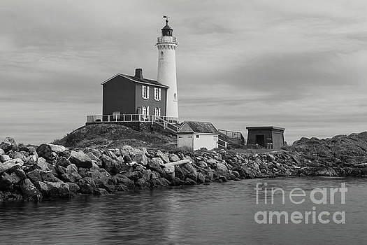 Fisgard Lighthouse 1 bw by Jerry Fornarotto