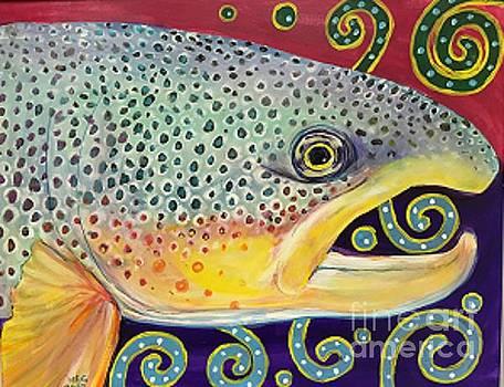Fish and doodles by Maria Elena Gonzalez