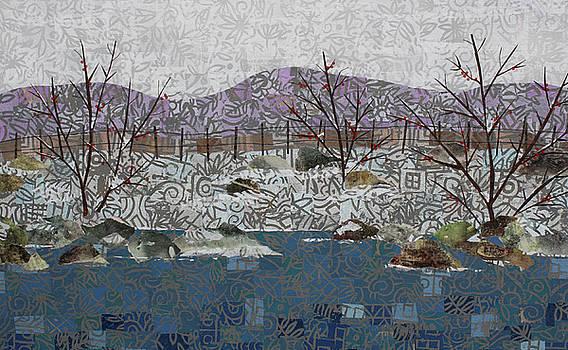 Fish and Winter Detail 2 by Janyce Boynton