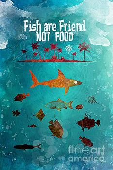 Justyna Jaszke JBJart - Fish are friend not food poker