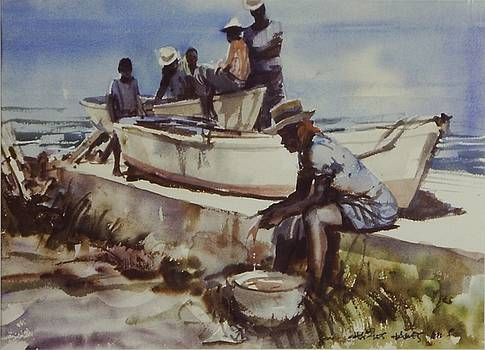 Fish Cleaning by Charles Hawes