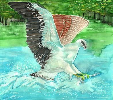 Fish Eating Eagle by Ramon Bendita